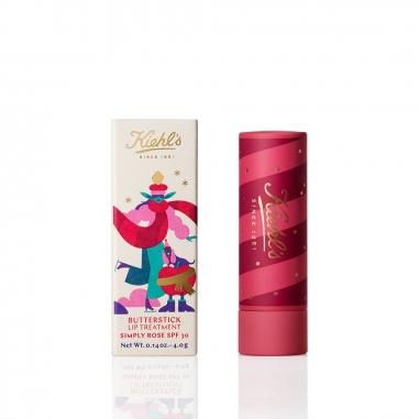 KIEHL'S契爾氏 《聖誕限定》檸檬奶油護唇膏SPF30(玫瑰色)