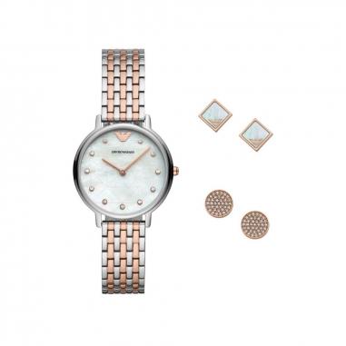 Emporio Armani阿瑪尼(精品) 套組-腕錶+耳環