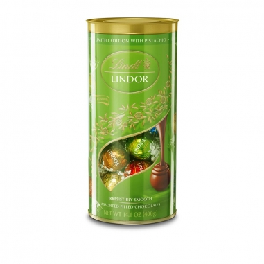 Lindt瑞士蓮 瑞士蓮限量版開心果軟心巧克力筒裝禮盒