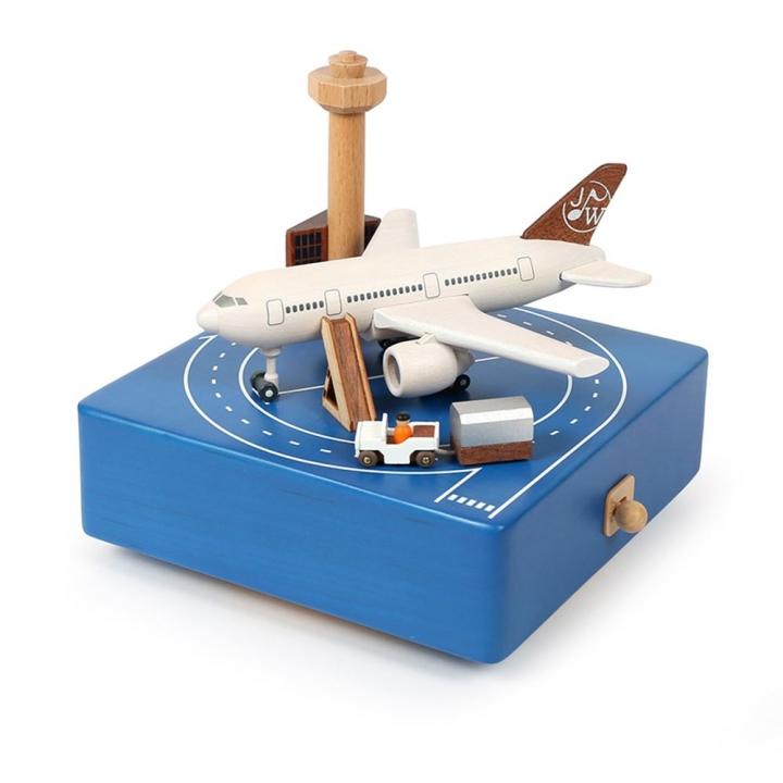 Music Round & Round Music Box - Airport Apron繞圈音樂鈴-飛機機坪