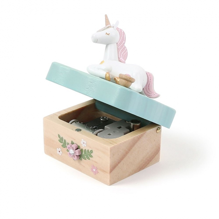 Lovely Music Box - Mini Sitting Unicorn小木盒音樂鈴-坐姿獨角獸