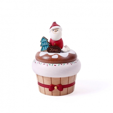 Jean Cultural知音文創 《聖誕限定》頭轉音樂鈴-聖誕老人蛋糕