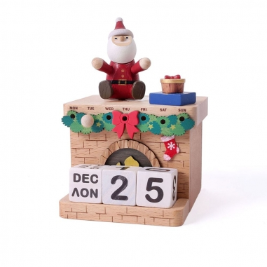 Jean Cultural知音文創 《聖誕限定》萬年曆音樂鈴-聖誕壁爐