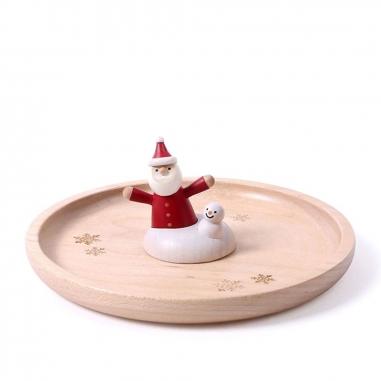Jean Cultural知音文創 《聖誕限定》木製置物皿-雪地聖誕老人