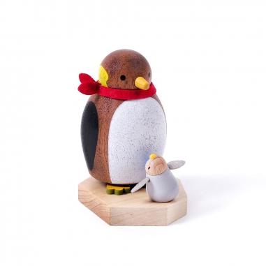 Jean Cultural知音文創 《聖誕限定》彈簧擺飾-親子企鵝