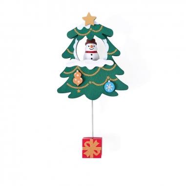 Jean Cultural知音文創 《聖誕限定》木趣味吸鐵擺飾雪人聖誕樹