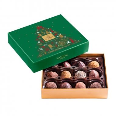 GodivaGodiva 《聖誕限定》聖誕松露巧克力禮盒12顆裝