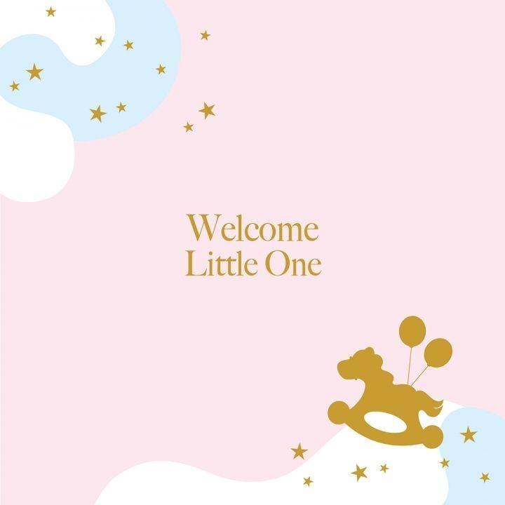 Welcome Little One gold bracelet24K金黃金手鍊彌月禮盒組