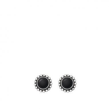 Georg Jensen喬治傑生 月光耳環--純銀黑瑪瑙
