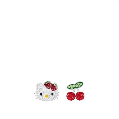 Swarovski施華洛世奇 HELLO KITTY:PE FRUITS DMUL/RHS穿孔耳環