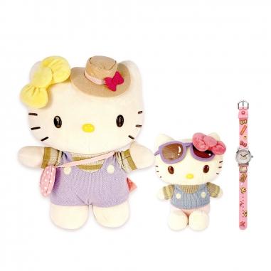 Hello KittyHello Kitty 《組合7折+送旅行夾鏈袋和保冰杯》好姐妹絨毛組+旅行兒童錶