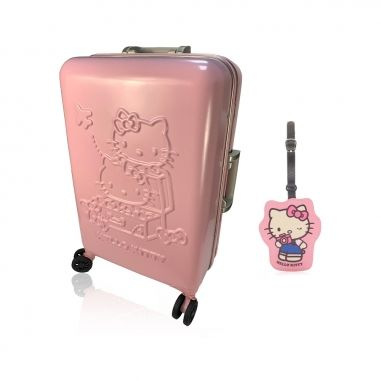 Hello KittyHello Kitty 《贈兩用卡套+送旅行夾鏈袋和保冰杯》雛菊之夢暖陽陽限量版旅行好姐妹 甜心行李箱