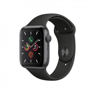 AppleApple 太空灰色鋁金屬錶殼 黑色運動型錶帶