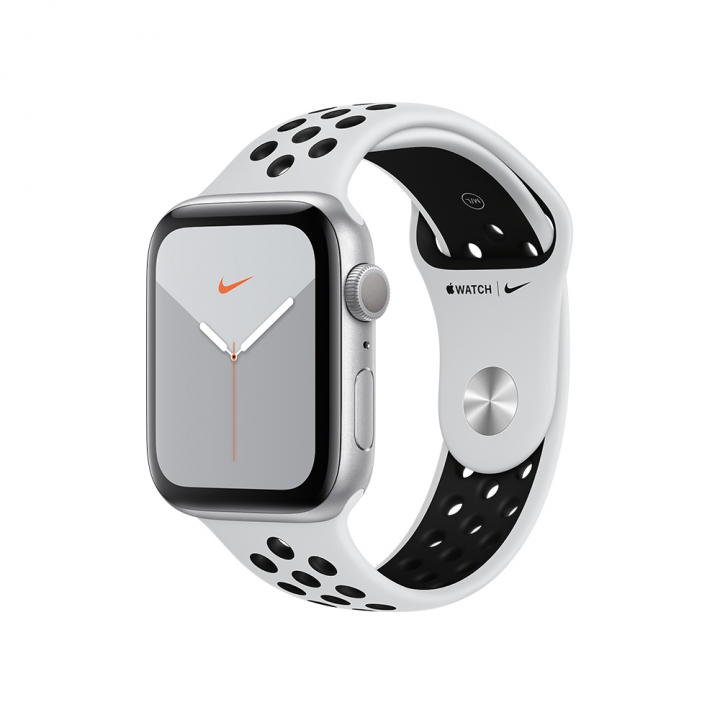 Apple Watch Series 5 Nike+GPS銀色鋁金屬錶殼 Nike運動型錶帶