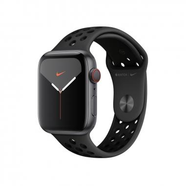 AppleApple 太空灰配黑色 Nike運動錶帶