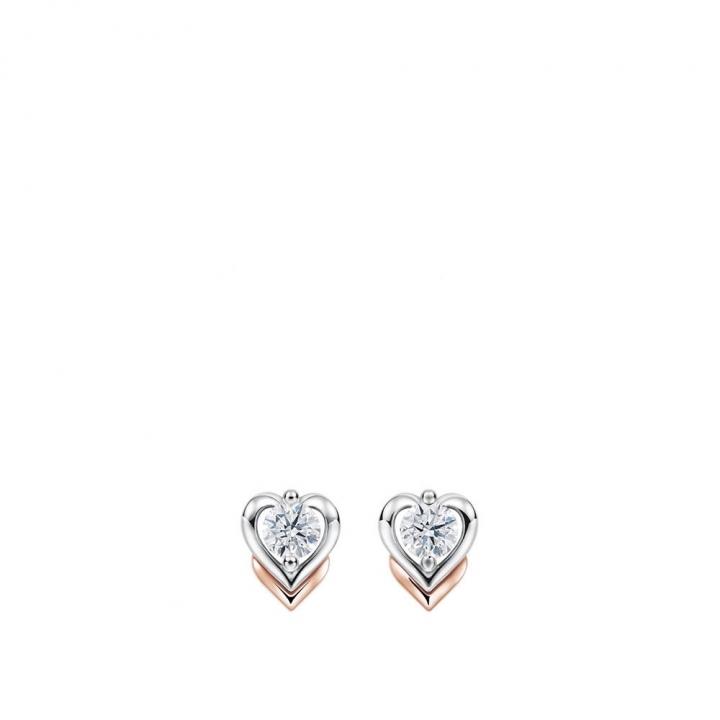 MEET U COLLECTIONMEET U 心型鑽石耳環