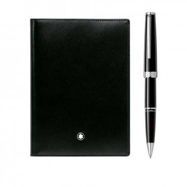 Montblanc萬寶龍(精品) 禮品組合-PIX滾珠筆+護照套