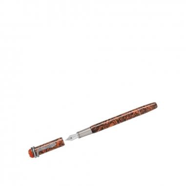 Montblanc萬寶龍(精品) 傳承系列紅與黑大理石靈蛇特別版鋼筆-M尖