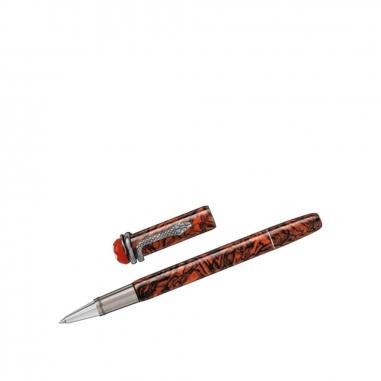 Montblanc萬寶龍(精品) 傳承系列紅與黑大理石靈蛇特別版鋼珠筆