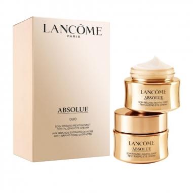 LANCOME蘭蔻 蘭蔻絕對完美黃金玫瑰修護眼霜 兩件特惠組