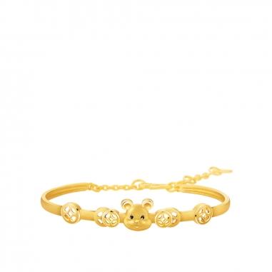 Ever Rich Jewelry昇恆昌珠寶 金鼠報喜黃金手環