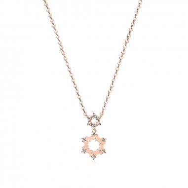 AGATHA璦嘉莎 Snowflake玫瑰金項鍊