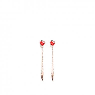 AGATHA璦嘉莎 PMA紅心巴黎我的愛垂耳環