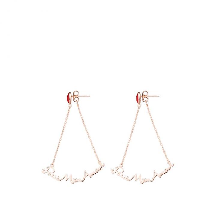 PARIS MON AMOUR EarringsPARIS MON AMOUR 玫瑰金耳環