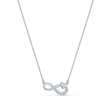 Swarovski施華洛世奇 Infinity銀項鍊