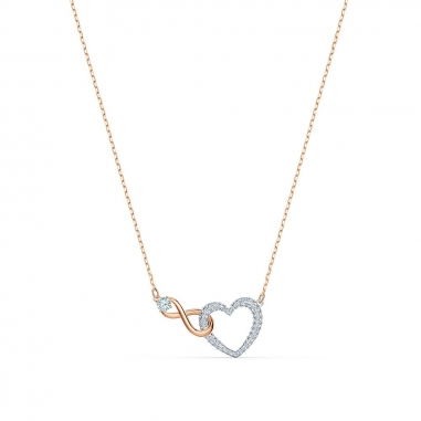 Swarovski施華洛世奇 Infinity玫瑰金項鍊