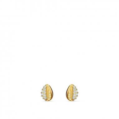 Swarovski施華洛世奇 Shell金耳環
