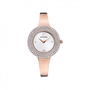 Swarovski施華洛世奇 Crystal Rose 玫瑰金手鐲錶
