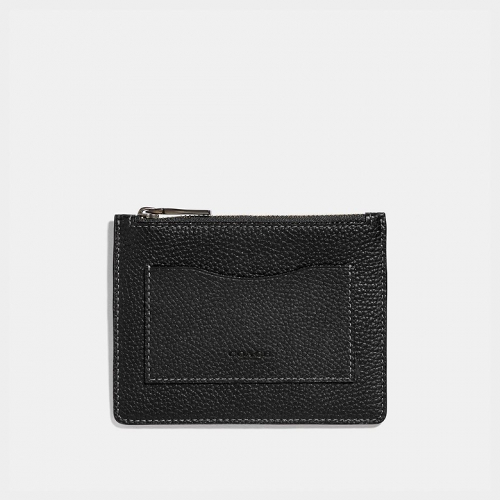 LARGE CARD CASE IN PEBBLED LEATHER卡夾
