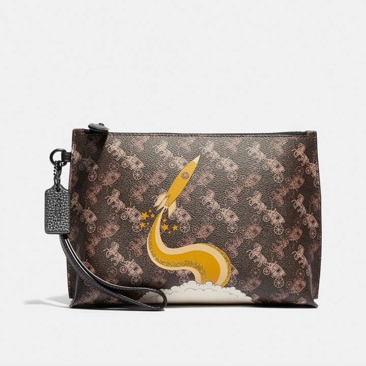 CHARLIE POUCH WITH HORSE AND CARRIAGE PRINT AND ROCKETHORSE AND CARRIAGE