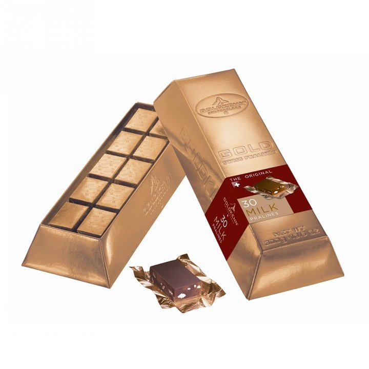 GoldKenn瑞士金磚 《同品項.買3送1》瑞士金磚-牛奶巧克力 30入裝
