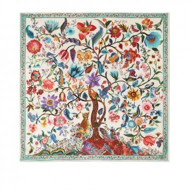 Salvatore Ferragamo費拉格慕 FO TREE OF L絲巾