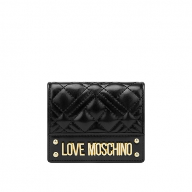 LOVE MOSCHINOLOVE MOSCHINO SLG-New Shiny Quilted短夾