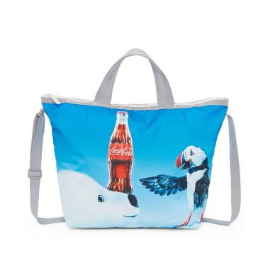 LeSportsac力士保 COCA COLA聯名款兩用托特包