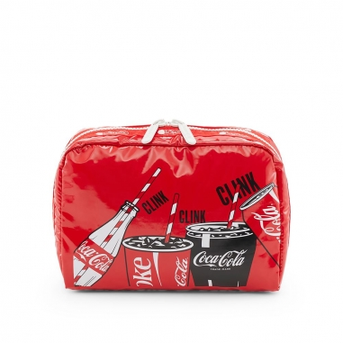 LeSportsac力士保 COCA COLA聯名款化粧包