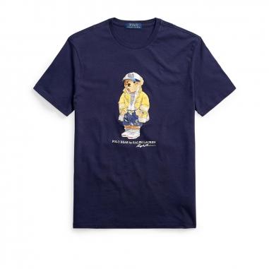 POLO RALPH LAUREN拉夫勞倫 定制修身版型小熊圖案 T 恤