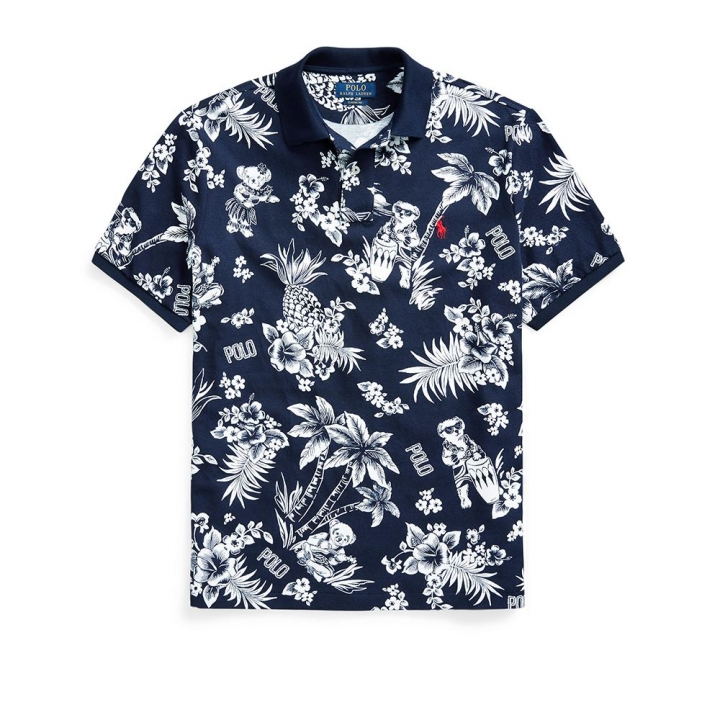 POLO TOP定制修身版型小熊圖案 Polo 衫