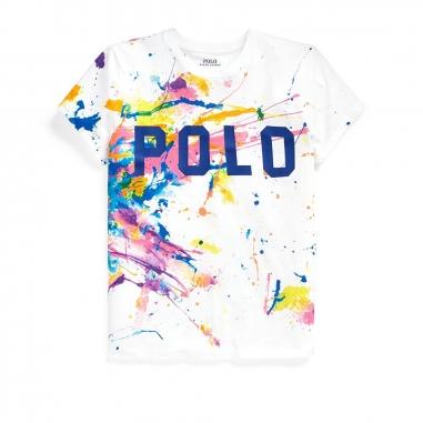 POLO RALPH LAUREN拉夫勞倫 Polo 水彩圖案 T 恤