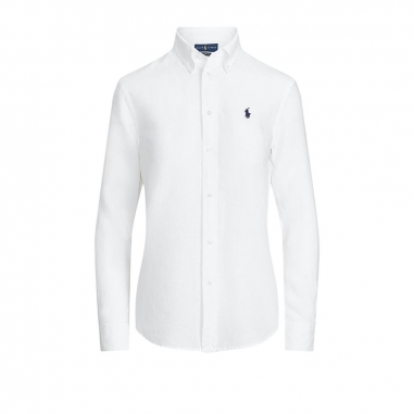 POLO RALPH LAUREN拉夫勞倫 寬鬆版型亞麻布襯衫