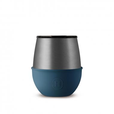 HYDY海迪 雙層隨行保溫杯 海軍藍-鈦灰