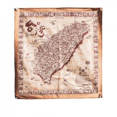 MUZI ART木子創意 環島旅行布地圖(紅)