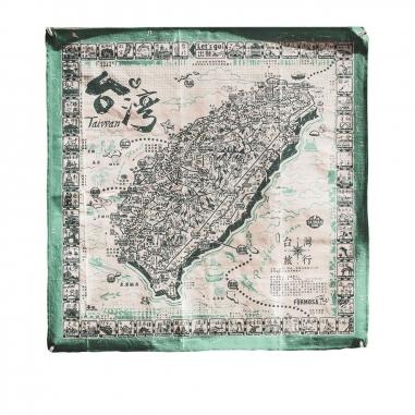 MUZI ART木子創意 環島旅行布地圖(青)