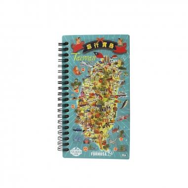 MUZI ART木子創意 旅行台灣木質筆記本
