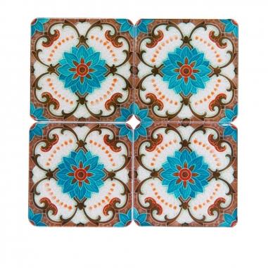 MUZI ART木子創意 藍色花杯墊組
