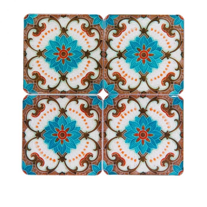 Blue flower coaster set藍色花杯墊組