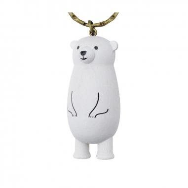 Jean Cultural知音文創 黑熊原木鎖圈-北極熊